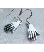 Hand Amulet Earrings Hands Charm Frida Kahlo Day of the Dead Sterling Silver Top - $12.48
