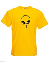 Mens T-Shirt Headphones, Music Fans Shirts, Pop, RnB, Trance, Chill Song Shirt - $24.74