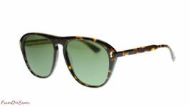 Gucci Gafas de Sol Unisex GG0128S 001 Havana / Verde Lente Auténtico 56mm - $204.81