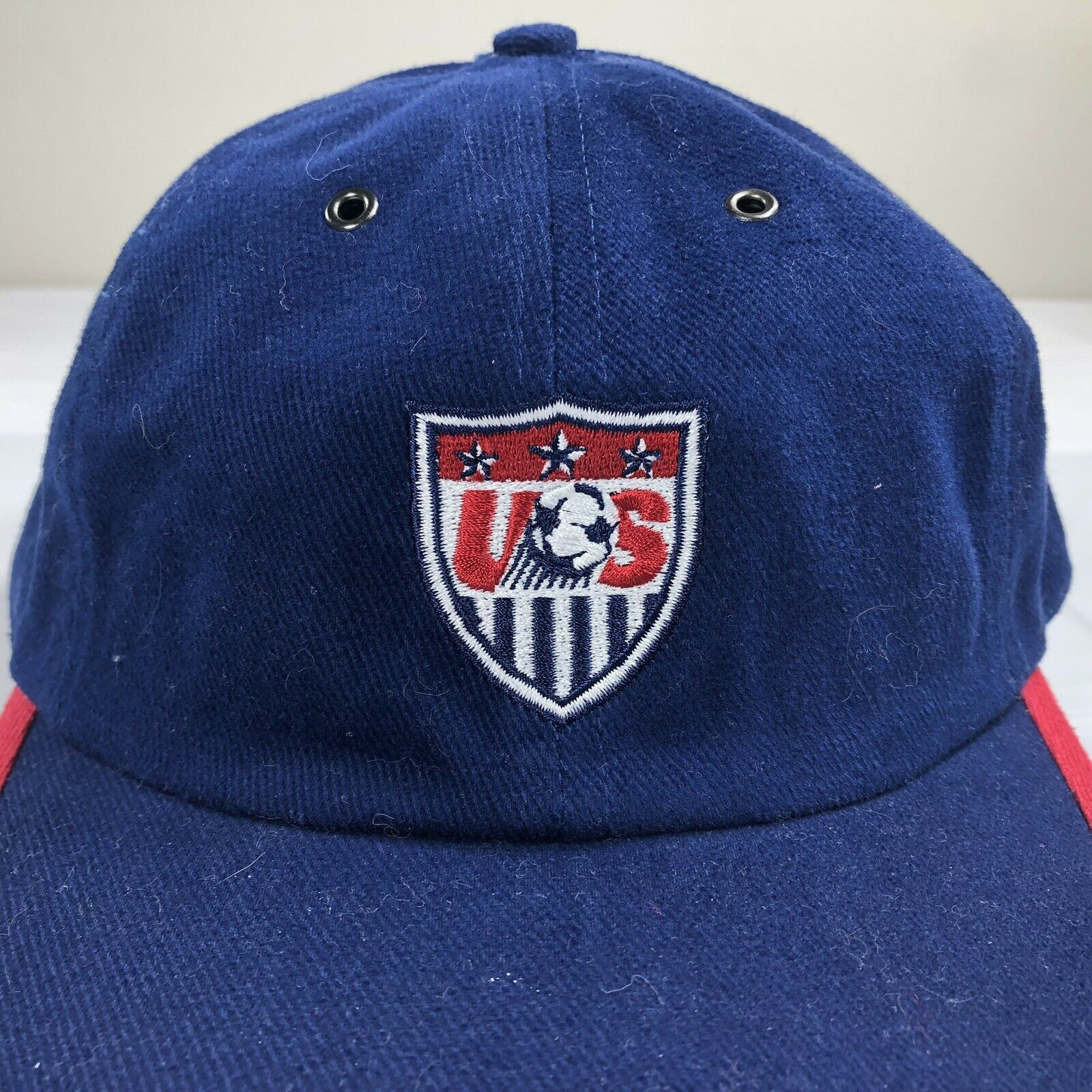 VTG Nike Hat Team USA Strapback Cap Soccer Olympics Swoosh Air Flight OG