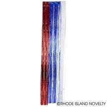 Patriotique USA Metalique Frange Rideau Fête Feuille Guirlande - $7.21