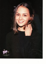 Rachel Leigh Cook Joey Lawrence teen magazine pinup clipping black shirt Bop