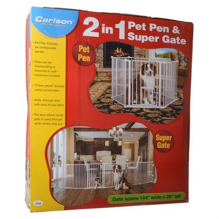 Carlson 2 in 1 pet pen super gate
