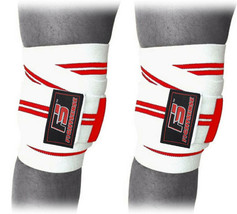 FS Knee Wraps Pair Gym Weight lifting Bandage Straps Powerlifting Pads Camo Pink