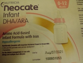 Nutricia Neocate infant DHA/ARA amino acid base infant formula with iron... - $110.00