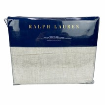 New Ralph Lauren Sonoma Valley Queen Flat Sheet Bareto Light Natural 96 ... - $89.99