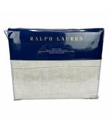 New Ralph Lauren Sonoma Valley Queen Flat Sheet Bareto Light Natural 96 ... - $89.99