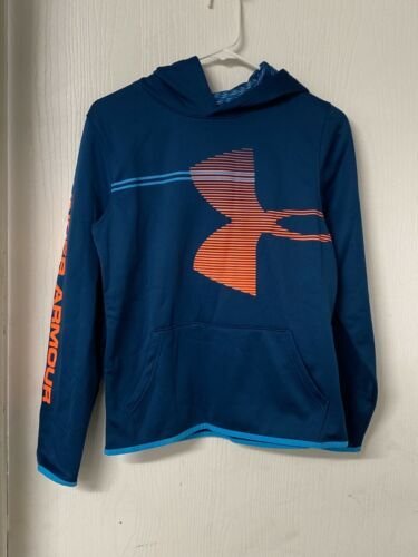 Primary image for Under Armour Boys Armour Fleece Hoodie Sweatshirt Blue, Size YXL ColdGear. NWOT