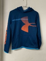 Under Armour Boys Armour Fleece Hoodie Sweatshirt Blue, Size YXL ColdGear. NWOT - $14.50