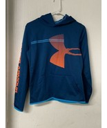 Under Armour Boys Armour Fleece Hoodie Sweatshirt Blue, Size YXL ColdGea... - $14.50