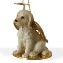 LABRADOODLE (CREAM) ANGEL DOG CHRISTMAS ORNAMENT HOLIDAY Figurine Statue - $14.99