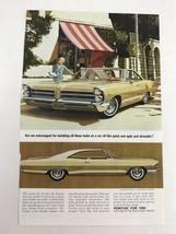 1965 Pontiac Vtg 1964 Print Ad Two Ladies - $9.89