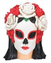 Day of The Dead Black and White Female Head Decoration - €11,89 EUR