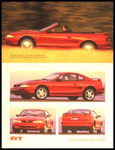 1996 Ford Mustang Cobra SVT Sales Brochure, ORIGINAL - $8.97