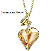 Necklaces & Pendants For Women - Austrian Crystal Rhinestones 4 Color Heart Love image 3