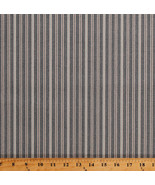 Something Blue Edyta Sitar Stripes Navy Cotton Fabric Print by Yard D379.34 - $12.49