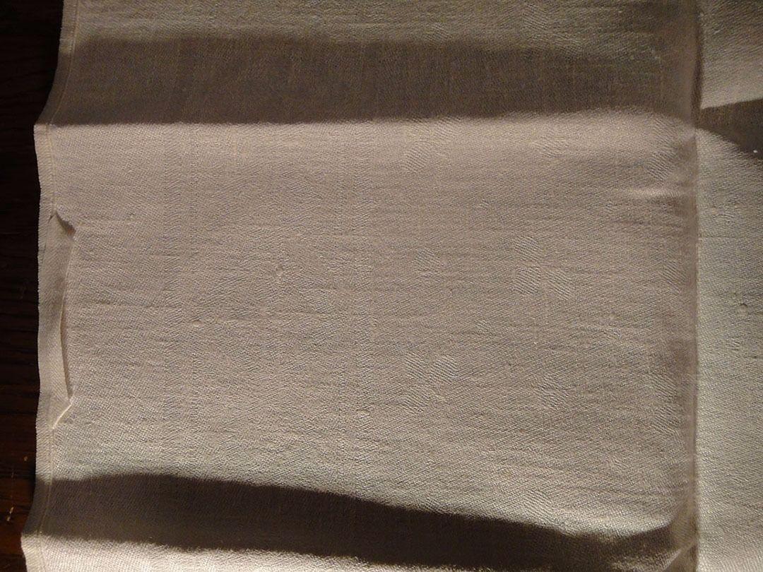 Large vintage antique Irish linen damask hand towel Celtic clover tea dish 40X17