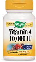 Nature's Way Vitamin A 10,000 IU , 100 Softgels - $5.98