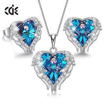 CDE 925 Sterling Silver Women Jewelry Sets Embellished with crystals Wom... - $71.99+