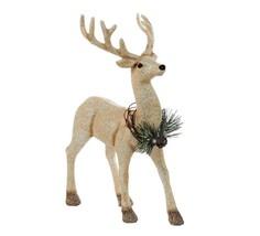 """Kurt Adler 12"""" Gold Glitter Reindeer Frosted Pine Wreath Table Top Decor - $39.59"""
