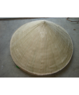 Lot of 5 vietnamese bamboo palm leaf conical hat thumbtall