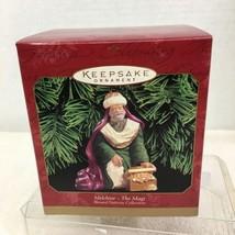 1999 Melchior Blessed Nativity Hallmark Christmas Tree Ornament MIB Pric... - $22.28