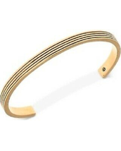 R.T. James Etched Cuff Bracelet Gold tone - $34.64