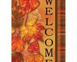 """Cascading Leaves Fall Garden Flag-2 Sided Message,12"""" x 18"""""""