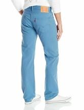 Levi's 501 Men's Original Fit Straight Leg Jeans Button Fly Blue 501-2224