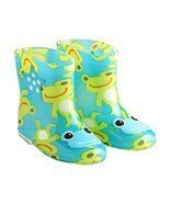 Cute Starry Kids' Rain Boots Green Frog Children Rainy Days Shoes 19CM - £17.76 GBP