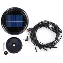 AMPERSAND 8-Ft. / 9-Ft. 6-Rib Wooden Outdoor Patio Umbrella Solar-Powere... - $46.79
