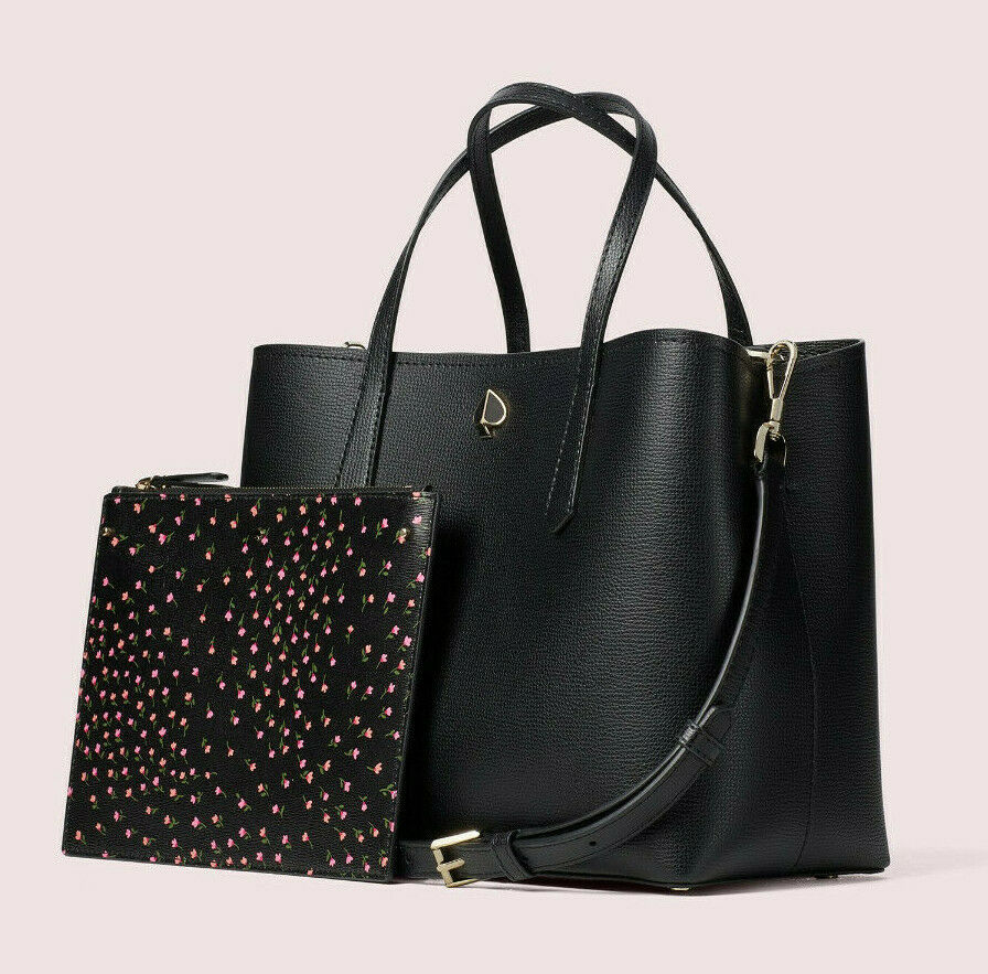 Primary image for Kate Spade Molly Meadow Medium Leather Satchel Crossbody ~NWT~ Black