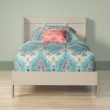 Wooden Frame Twin Size Bed Headboard Set Student Modern Bedroom Furnitur... - $127.70