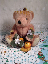 Adorable Honey Orange Handcrafted Florida Bear With Bees - $39.99