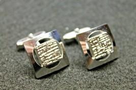 Vintage Jewelry Amerik Cufflinks Brutalist Modernist Design Mens - $35.00
