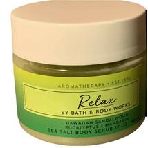 1 Bath & Body Works Aromatherapy RELAX Sea Salt Body Scrub Sandalwood Eu... - £17.67 GBP