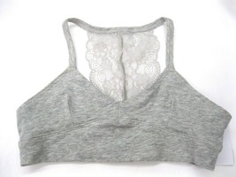 Maiden Form Girl  Puberty Bra Size Small Grey Racer Back Lace Cotton  KD68 - $12.86