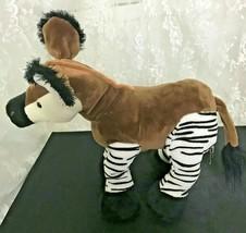 "Ganz Webkinz Okapi Zebra Donkey HM445 Nose to Tail 13"" Very Soft and Cuddly - $17.86"