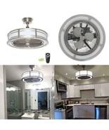 "HDC Brette II 23"" LED Indoor/Outdoor Brushed Nickel Ceiling Fan - $158.39"
