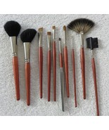 Makeup Brushes 10 Piece Professional High End Luxury Real Walnut Handle ... - $23.75