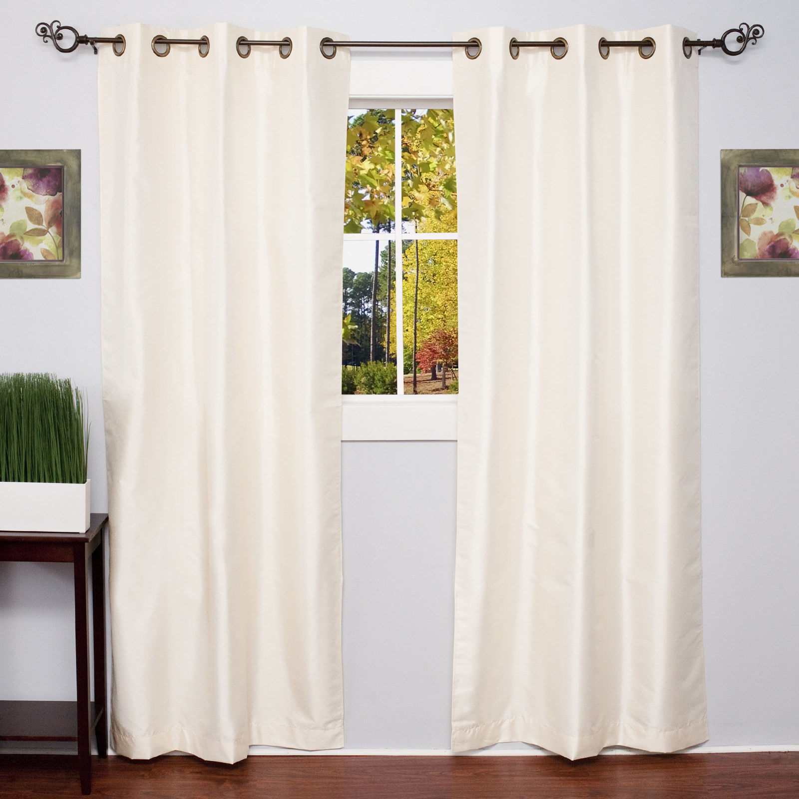 Room Darkening Window Panel 2 Pak Lined Grommet Top Energy Saving 6 Solid Colors