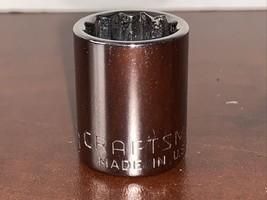 "Craftsman 44334 9/16"" Sae 3/8"" Drive 12 Point -G1- Socket Usa - $7.50"