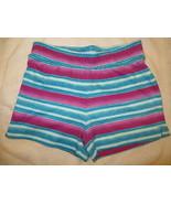 Gymboree Mix N Match Striped Blue Purple Knit Shorts Size L Large 10-12 ... - $15.76