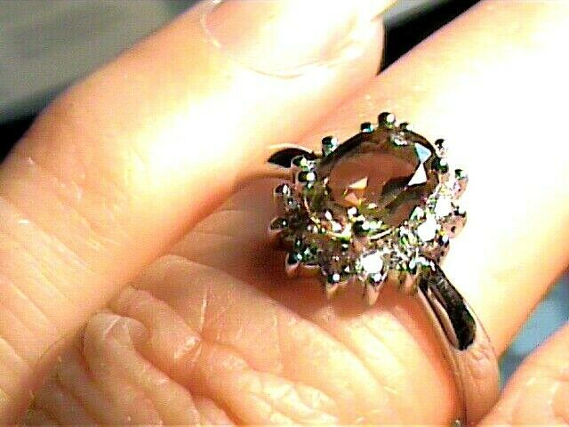 sterling 925 silver ring Russian alexandrite 8 small solitaire color change WOW