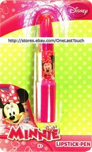 """DISNEY MINNIE MOUSE Lipstick Shaped Ink Pen PINK .75"""" x 4"""" Ages 3+ (CARD... - $2.68"""