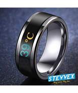 Temperature Ring Titanium Steel Mood Emotion Feeling Intelligent Tempera... - $17.99
