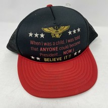 Vintage Anyone Could Become President SnapBack Hat  - $12.86