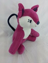 "Gymboree Magenta Fox Plush Purse Coin 8"" Stuffed Animal Toy - $9.95"
