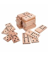 Giant Wooden Yard Dominoes Game Jumbo Natural 7 X 3.54 Inches Wood Kids ... - $53.85