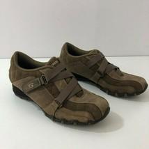 SKECHERS 46860 Brown Suede Bicycle Toe Sneaker Womens Size 8 Mint - $32.89